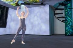 3d gemengde media van een hologramdanser Royalty-vrije Stock Foto's