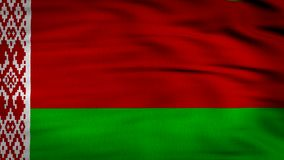 Belarus animated flag stock video footage