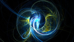 3D generated fractal abstract light background Royalty Free Stock Photography