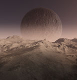 3D generated landscape. Of a lost earth Royalty Free Stock Photography