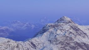 3d generated landscape: Misty mountains. And the first snow Royalty Free Stock Image
