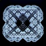 3D generated scifi fractal. Texture stock illustration