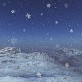 3d generated winter landscape: Misty mountains Stock Photography