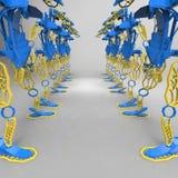 3D generativ design av en robot - illustration 3D vektor illustrationer