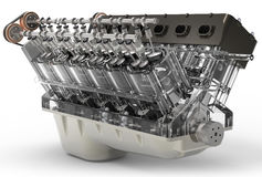 3d generic automotive engine assembly Stock Images