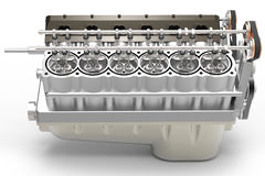 3d generic automotive engine assembly Royalty Free Stock Photography