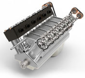 3d generic automotive engine assembly Royalty Free Stock Photos