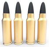 3d generic golden rubber bullets. On white background Royalty Free Stock Image