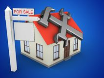 3d generic house Royalty Free Stock Image
