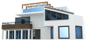 3d generic house Stock Photography
