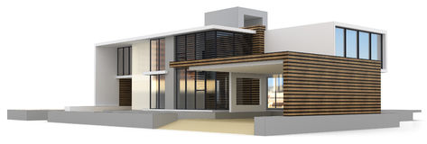 3d generic house Stock Images
