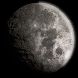 3d generic moon with craters Stock Image