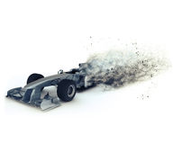 3D Generic racing car with speed effect Royalty Free Stock Photography