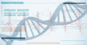 3D genes diagram on white background Royalty Free Stock Photo