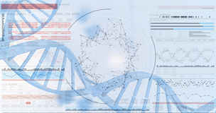 3D genes diagram on white background Stock Images