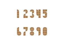 2D geomatic style Number. Two dimension geomatic style number in brown color Stock Photo