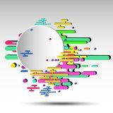 3d geometric abstract background with round banner - vector eps10.  vector illustration