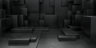3D Geometric Abstract Cuboid Wallpaper Background royalty free illustration