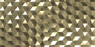 3D Geometric Abstract Hexagonal Wallpaper Background. Render of 3D Geometric Abstract Hexagonal Wallpaper Background stock illustration