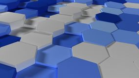 3D Geometric Abstract Hexagonal Wallpaper Background. Render of 3D Geometric Abstract Hexagonal Wallpaper Background stock photography
