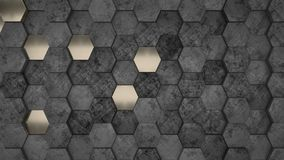 3D Geometric Abstract Hexagonal Wallpaper Background. Render of 3D Geometric Abstract Hexagonal Wallpaper Background royalty free stock photos