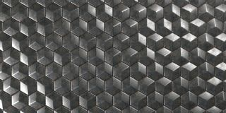 3D Geometric Abstract Hexagonal Wallpaper Background. Render of 3D Geometric Abstract Hexagonal Wallpaper Background Stock Illustration