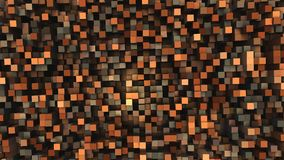 3D Geometric background from cubes. 3D illustration Royalty Free Stock Images