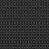 3d geometric black seamless pattern with circles. Vector background Royalty Free Stock Images