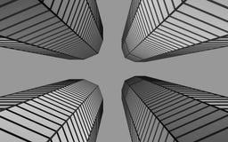 3d geometric buldings Royalty Free Stock Image