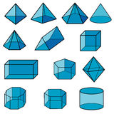 3d geometric for kid vector Royalty Free Stock Photos
