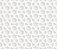 3D Geometric light grey pattern background. Hexogon Shape Stock Photo