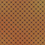 3d geometric mosaic, persian motif. Mosque decoration element. I. Slamic geometric pattern. Elegant gold oriental ornament on black background, traditional vector illustration