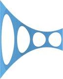 3D Geometric Organic Wireframe Shape Stock Photos