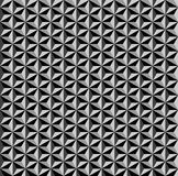 3D geometric pattern. Dark background and texture. 3D geometric pattern. Black and grey background and texture. Vector art Royalty Free Stock Photography