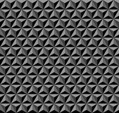 3D geometric pattern. Dark background and texture. 3D hexagons, diamonds and triangles pattern. Black and grey geometric background and texture. Vector art Royalty Free Stock Photography