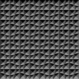 3D geometric pattern. Dark background and texture. 3D seamless pattern. Black and grey geometric background and texture. Vector art Stock Photography