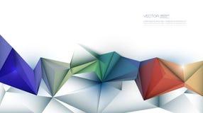 3D Geometric, Polygon, Triangle pattern shape. Vector Abstract 3D Geometric, Polygon ( polygonal ), Triangle pattern shape. Multicolored, blue, purple, yellow Stock Photo