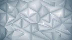 3D Geometric, Polygon, Triangle pattern shape. Vector Abstract 3D Geometric, Polygon  polygonal , Triangle pattern shape. White and light gray color in low-poly Royalty Free Stock Images