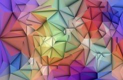 3D Geometric, Polygonal, Triangle pattern shape. Vector Abstract 3D Geometric, Polygon  polygonal , Triangle pattern shape. Multicolored, blue, purple, yellow Stock Photo