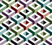 3D geometric seamless pattern. 3D geometric seamless pattern, boxes vector background Stock Illustration