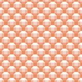 3d geometric seamless vector pattern of orange rhombicuboctahedron motif. This seamless vector pattern features rhombicuboctahedron 3d motif generated by the use vector illustration