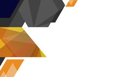 3d geometric shape left side, abstract background Royalty Free Stock Photos