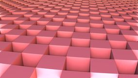 3D geometric shape from red cubes Royalty Free Stock Image