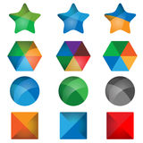 3d geometric shapes vector Royalty Free Stock Photos