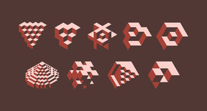 3d geometric symbols Royalty Free Stock Photography