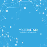 3d geometric vector background for business or science presentation. Royalty Free Stock Images