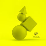 3d geometrical composition. Abstract vector Royalty Free Stock Image