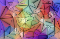 3D geometrisch, polygonal, Dreieckmusterform vektor abbildung