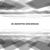 3D Geometrische abstracte achtergrond royalty-vrije illustratie