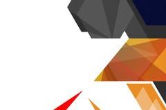 3d geometrische abstracte achtergrond van de vormrechterkant Stock Foto's
